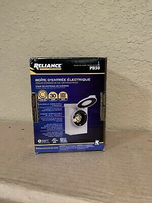 1 New Reliance Pb30 30 Amp Outdoor Power Inlet Box Metal L14-30p Plug 3r 240