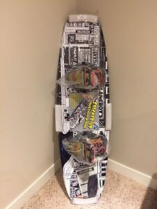 Mint condition world industries wake board with DC bindings