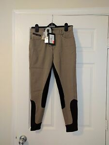 Eurostar Laura brown full seat breeches, size US 28 (Euro 40), new with tags!