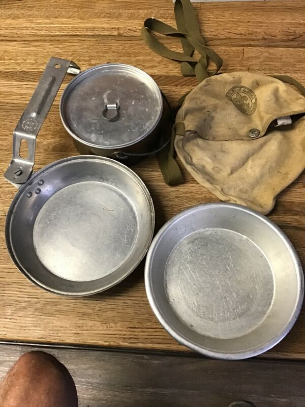 Vintage Diamond Brand, Boy Scouts, Food Cook & Mess Kit, BSA C.1950-1970