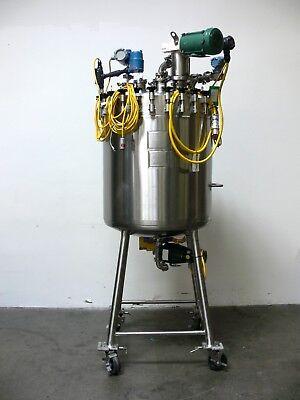 Mueller 300 Liter Stainless Steel 100 Psi Reactor W Agitator Bottom Valve