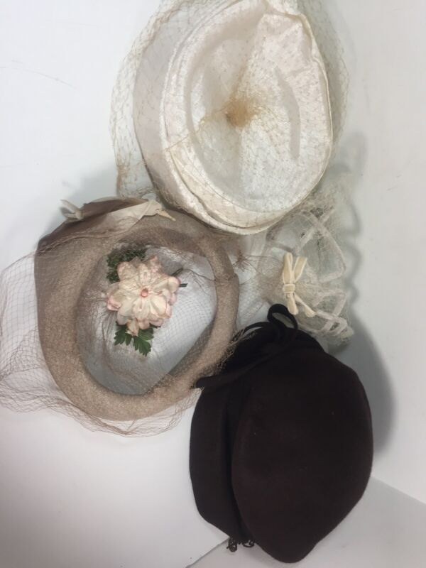 Lot of 4 Vintage Womens Hats