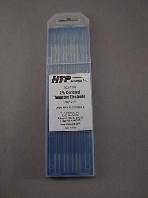 10 2 Ceriated Tungsten Tig Weld Electrodes 116 X 7