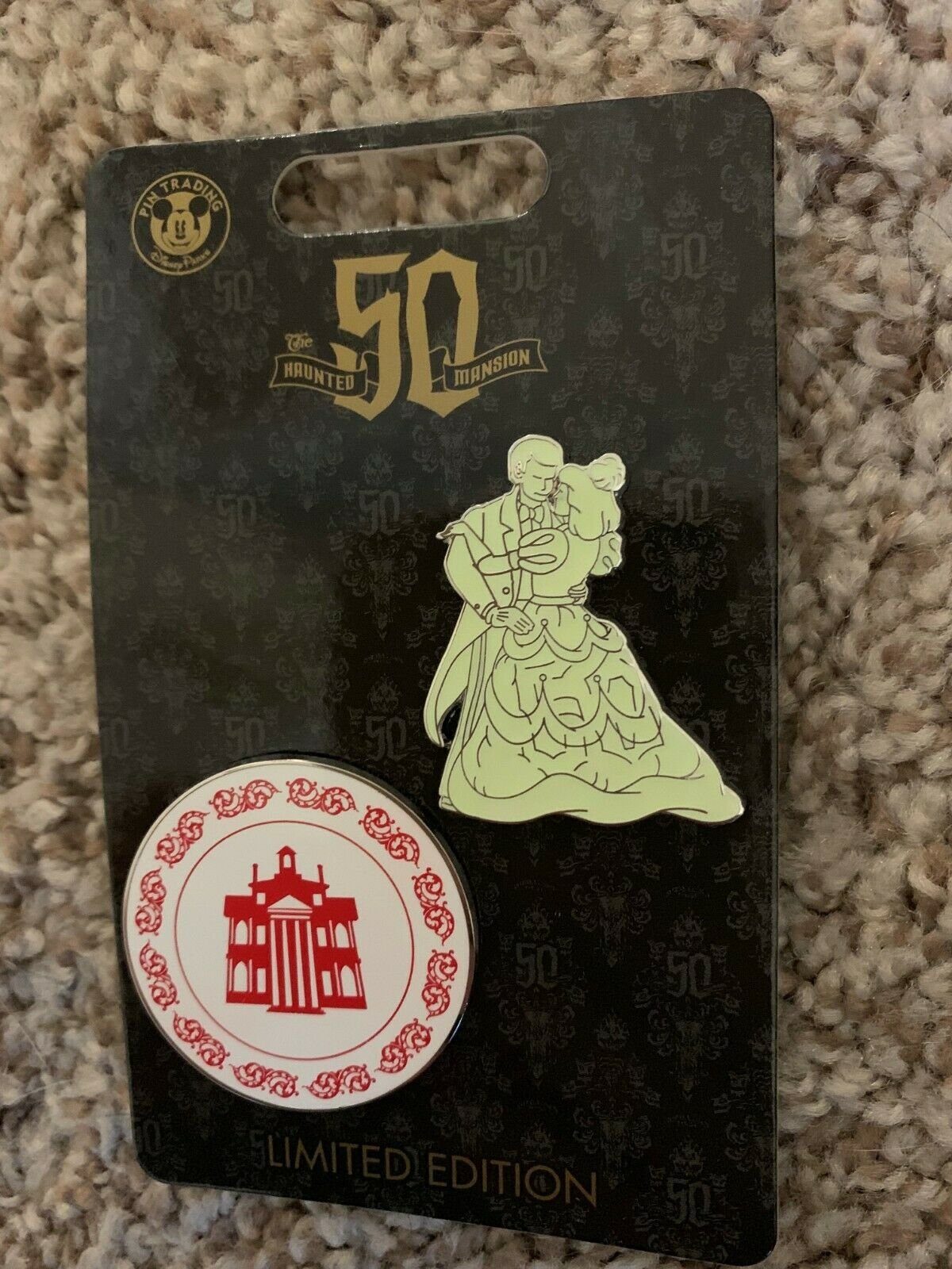 Haunted Mansion 50th Anniversary Ballroom Dancers Set of 2 P