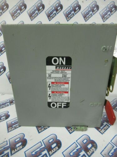 Murray GHN421N, 30 Amp, 240 Volt, 3 Phase, 4 Wire, Fusible, Disconnect