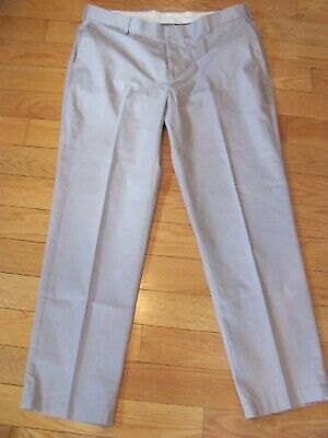 MENS SIZE 40 x 32 JOSEPH A BANK STAYS COOL GRAY FLAT FRONT DRESS PANTS CHINO