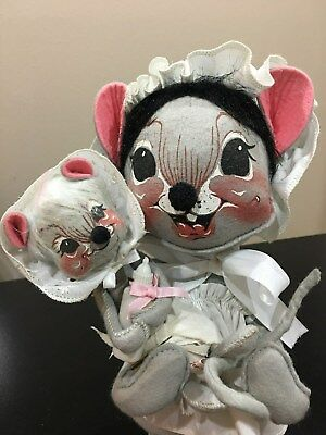 ANNALEE mouse mom and baby doll set (Mommy And Baby Doll Set)