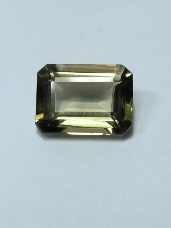 Large Faceted Natural Smokey Quartz Gemstone Emerald Shape 12.06ct Estate Find