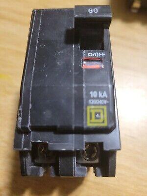 Square D Qo260 2-pole 60-amp 120240v Plug-in Circuit Breaker