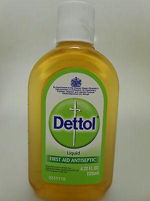 12 Bottles Dettol Liquid 125ml/4.22oz First Aid Antisepti...