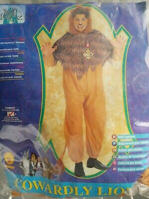 Wizard Of Oz Lion Costumes (COWARDLY LION WIZARD OF OZ Costume Rubies Sz STD  50 % off.   final)