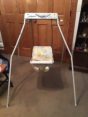 Vintage Graco Quiet Ride Swingomatic Swyngomatic Wind Up Baby Swing Works!