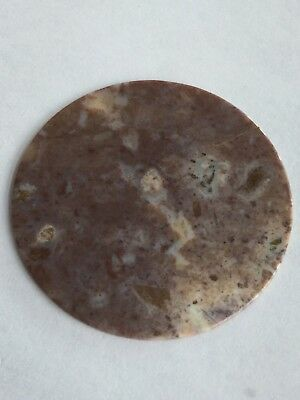 Genuine Gemstone Watch Dial/Disc - Chinese Mauve Agate 40 MM