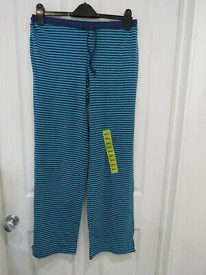 New Ladies Karen Neuburger blue stipe lounge pants size S