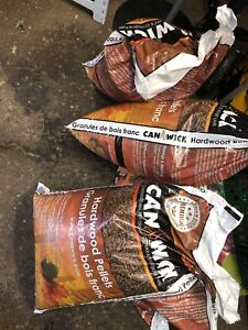 Hardwood stove pellets Can Wick brand 4 bags