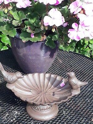 Cast Iron Bird Bath  Delightful   Garden Ornament