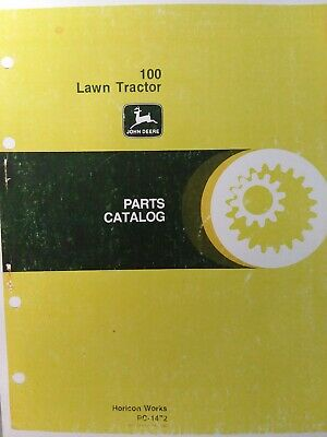 John Deere 100 Lawn Tractor Parts Manual Pc-1472 1975 - 1977 8 H.p C100d - C100f