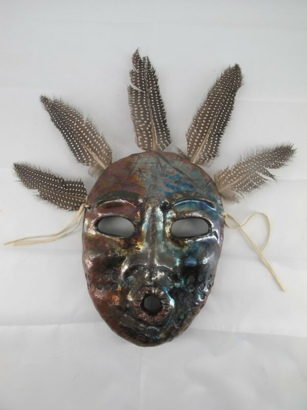 LILLIAN PITT Pacific NW Native American BLACK BUTTE Stick Indian Mask