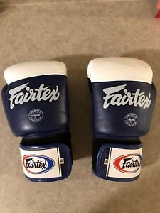 Fairtex Gloves Muay Thai Kick Boxing MMA 10 oz handmade leather