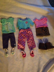 American Girl Doll outfits and travelling purse