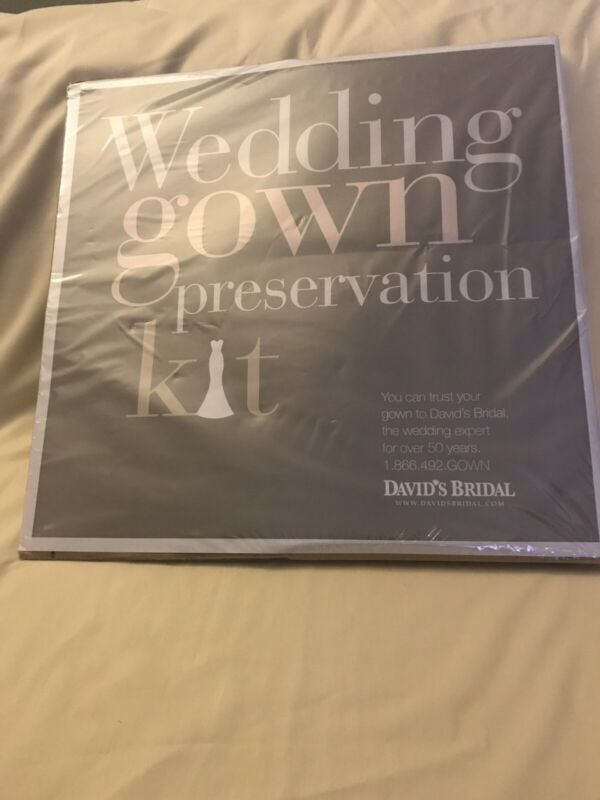 Wedding Gown Preservation Kit New in Box Davids Bridal Dress Storage Retail $189