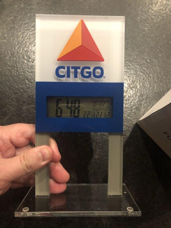 Citgo Fueling Good Oil Gasoline Digital Clock Sign Time Date Temp Original Box