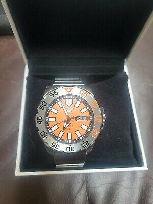 Seiko 5 Sports Orange Men's Watch - SRP483K1 and Sony Wena