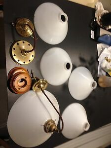 Glass light shades and assorted parts Adelaide CBD Adelaide City Preview