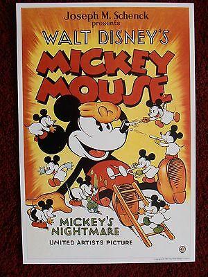 Mickey Mouse MICKEY'S NIGHTMARE 1932 Movie Poster Print The Walt Disney Company