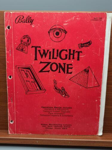 TWILIGHT ZONE Pinball Machine OPERATIONS MANUAL Bally 1993