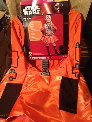 NWT Girls STAR WARS X-WING FIGHTER PILOT COSTUME/Fancy Dress Outfit  Sz L 10-12
