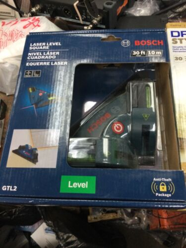 Bosch GTL2 Laser Level Square Vertical Chalkline for Tiles Floor etc New