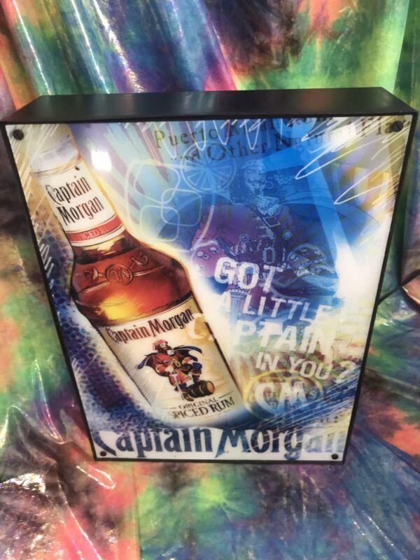 "Captain Morgan Lighted Florescent Bar Sign ""GOT A LITTLE CAPTAIN IN YOU?"""