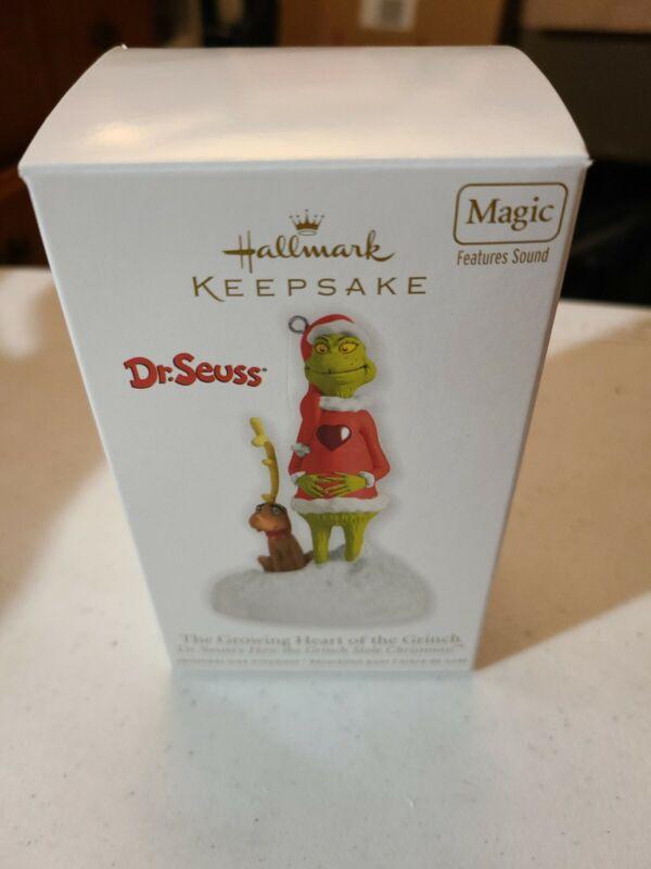 Growing Heart of the Grinch NEW Hallmark 2012 Seuss Ornament How Stole Christmas