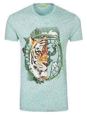 VERSACE JEANS Lion Print T-shirt Green