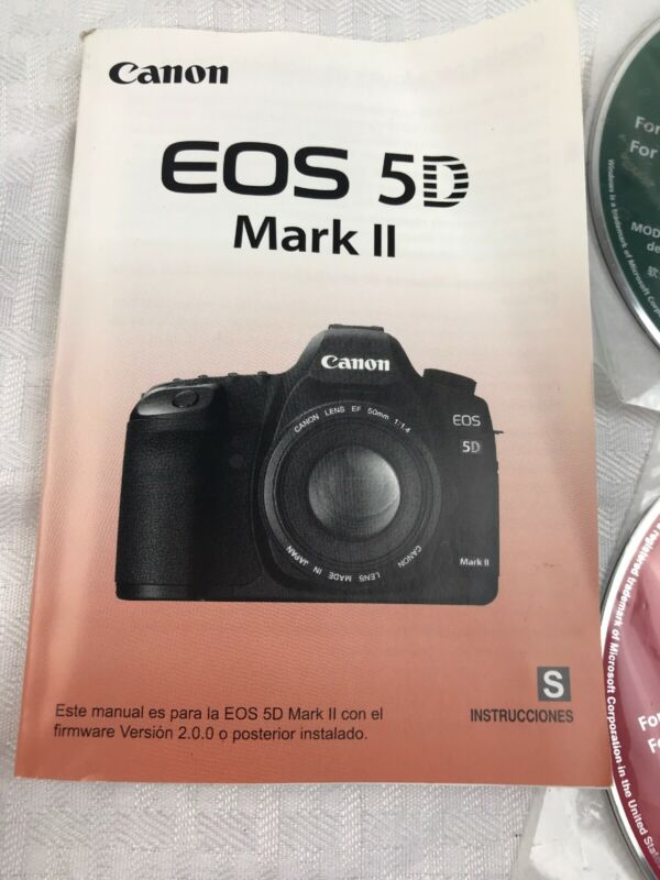 SPANISH Canon EOS 5D Mark II Instructions Manual book Booklet