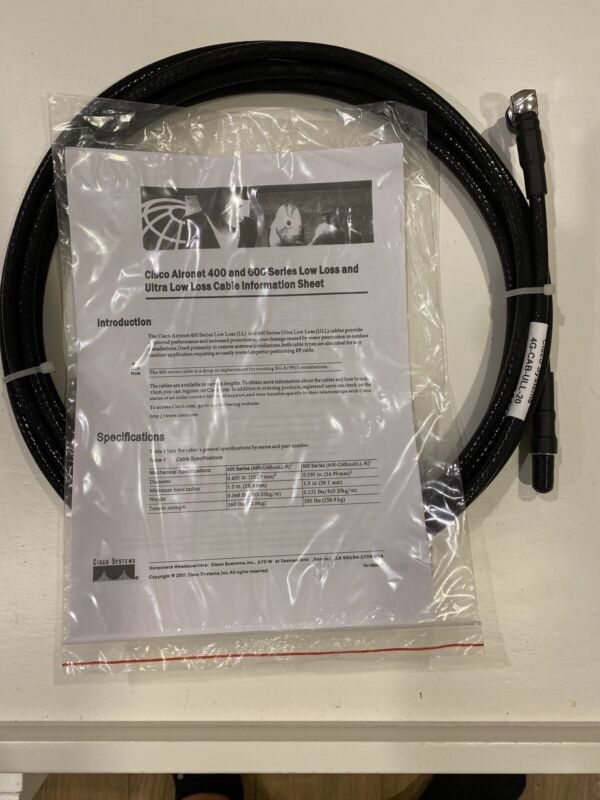 Cisco 4G-CAB-ULL-20 ULTRA LOW LOSS LMR CABLE Cisco