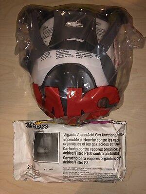 3m 6900 Mask Full Face Large Respirator W2 3m Acid Gas And Ov P100 Cartridge