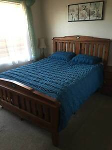 QUEEN SIZE WOODEN BED Croydon Burwood Area Preview