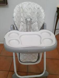High Chair with Height Adjustment & Lay Back Seat Robina Gold Coast South Preview