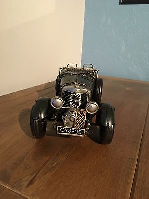 Tin Model  Number 8 Antique Car With Union Jack