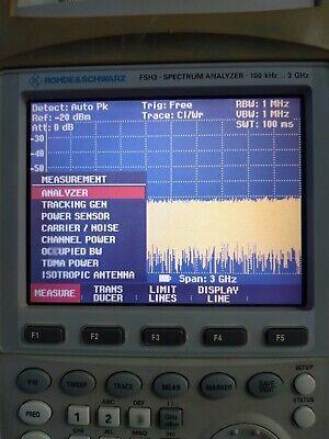 Rohde Schwarz Fsh3.23 Spectrum Analyzer 100khz To 3ghz W Fsh-z2 Ps Hand Bag