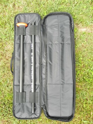 Black Project All Carbon SUP Stand Up Paddle Hydro 3-piece Travel Paddle w/ Bag