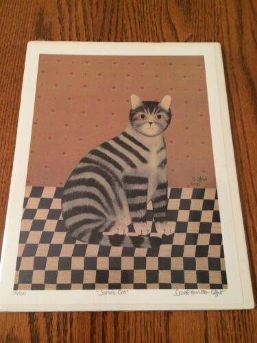 Carol Hamilton Offet Print 1985 Sarah's Cat Limited Edition #56/100 Unframed