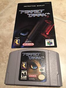 Perfect Dark with Instructions manual for Nintendo 64