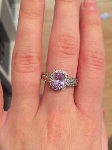 Purple crystal ring