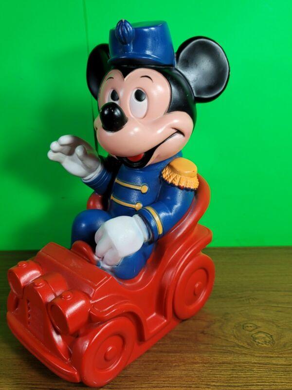 Vintage 1977 Mickey Mouse Coin Bank Drum Major Mickey WALT DISNEY. (SU)