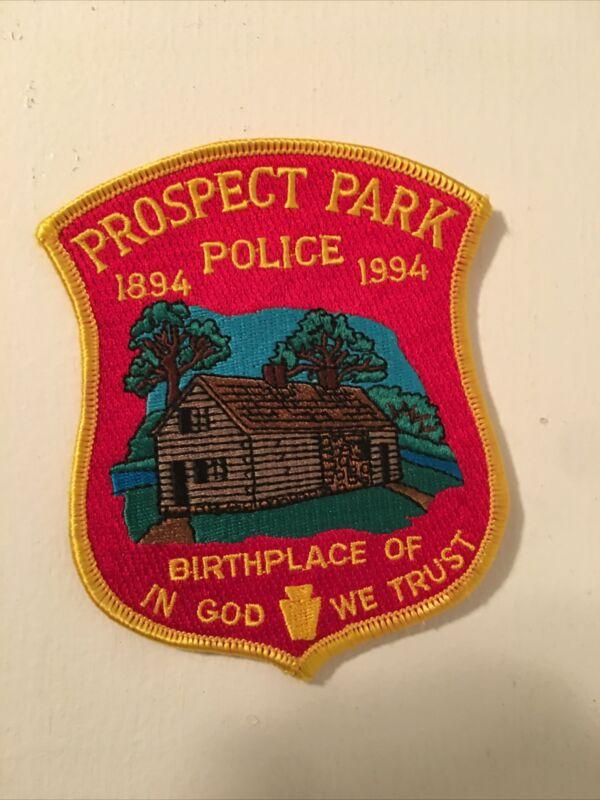 PROSPECT PARK POLICE, PENNA.  Shoulder Patch - PA., law enforcement