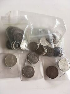 Junk silver lot for sale US and Canadian Silver coins -140$
