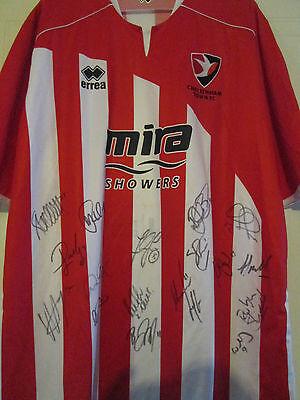 Cheltenham Town 2010-2011 Squad Signed Football Shirt FLT Charity Letter /39479 image